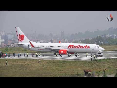 Malindo Air skids off Runway at Tribhuwan Intl' Airport