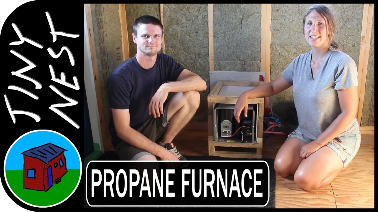 Propane Furnace Installation in a Tiny House Ep34 YouTube