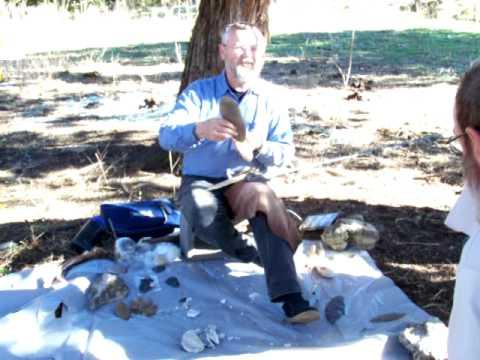 Dr. Bruce Bradley flintknapping demonstration 1