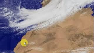 امطار المغرب : صورة الاقمار الصناعة توضح حجم وكمية السحب الكثيفة الان فوق المغرب