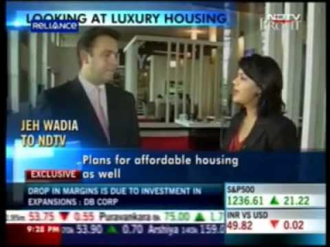 NDTV Profit - Mr. Jeh Wadia MD, Bombay Realty