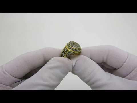 Серебряное кольцо Оберег 14513-ЗЧ