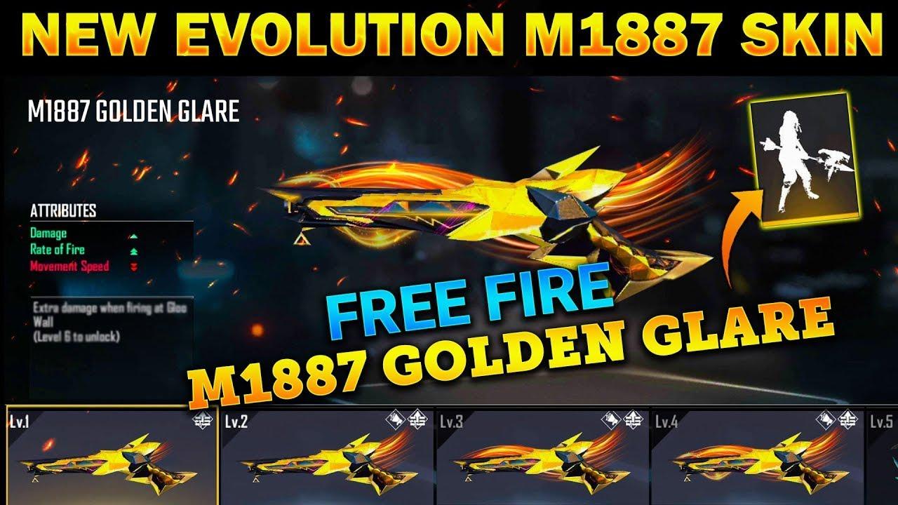 NEW EVO M1887 GUN SKIN FREE FIRE NEW UPDATE    NEW EVO M1887 SKIN    NEW EVOLUTION GUN IN FREE FIRE