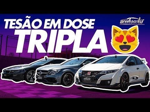 RRRODÃO DE C63 AMG + ÚNICO CIVIC TYPE-R DO BRASIL + BMW i8 HÍBRIDO! VR COM RUBINHO #120 | ACELERADOS