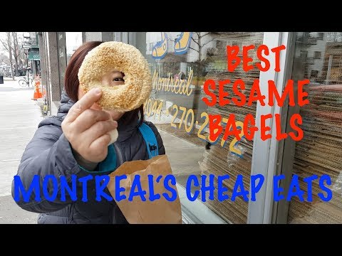 Montreal Travel Food Vlog - CHEAP & Best Bagels St Viateur vs Fairmount CHEAP EATS!