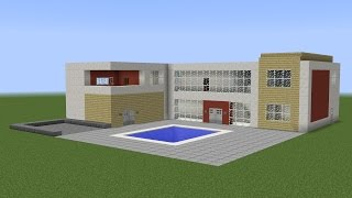 Minecraft - How build a great house with pool