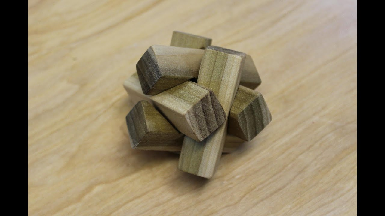Making The 6 Pc Notched Burr Puzzle Woodworking Project