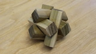 Making the 6-pc notched burr puzzle: Woodworking project