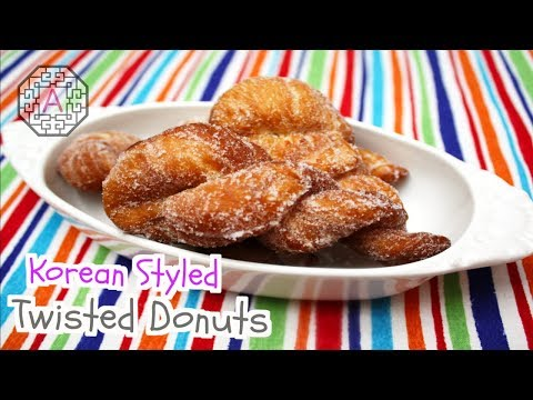 Korean Twisted Donuts