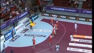 Polska-Arabia Saudyjska-32-13-Końcówka meczu na MŚ piłkarzy ręcznych Katar 2015
