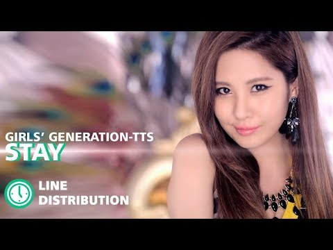 SNSD Taetiseo - Stay : Line Distribution (Color Coded)