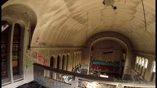 Abandoned Asylum in Ghost Town (ESCAPING GUARDS!) Urban Exploration Belgium