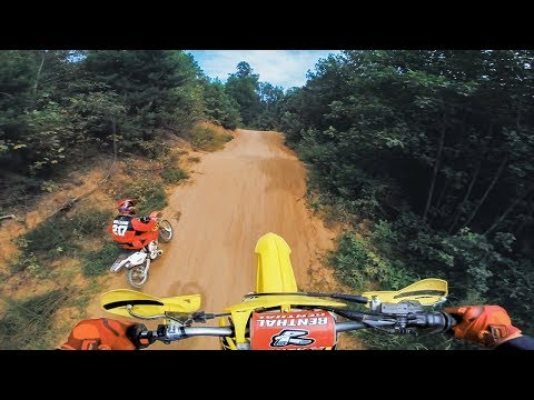 Hidden Motocross Track in the Woods!