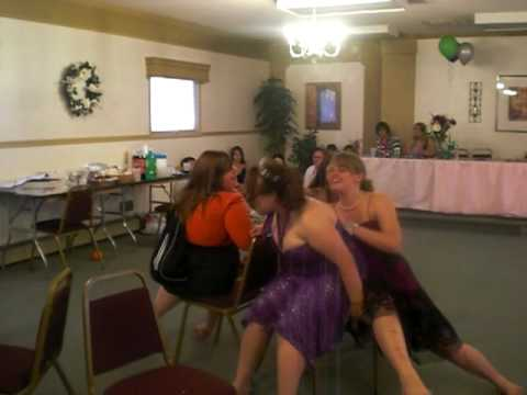 Sweet 16 Musical Chairs [Girl falls out of chair]
