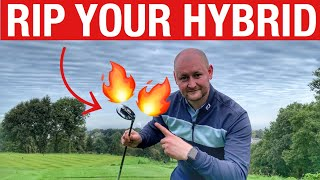 HOW TO HIT YOUR HYBRID - SIMPLE GOLF DRILL