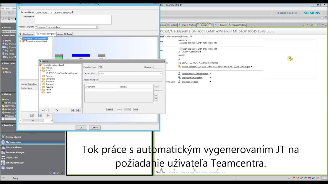 Tip Teamcenter - Dispatcher - automatické preklady dokumentov