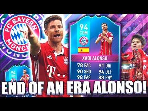 FIFA 17 END OF AN ERA SBC XABI ALONSO 94!! BEST CDM? FIFA 17 ULTIMATE TEAM