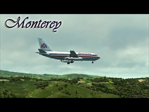 ⭐ |FSX| American 737-200 Approach to Monterey ⭐