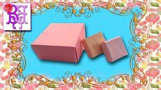 Как сделать коробочку из бумаги. Оригами. How to make a box of paper. Origami.(В этом видео я покажу как легко сделать своими руками коробочку из бумаги. Это поделка - Оригами. Уровень..., 2016-04-26T18:44:47.000Z)