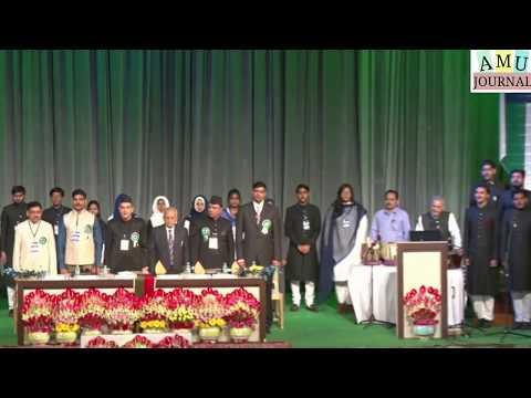 "Indian National Anthem ""Jan Gan Man"" on Bicentenary AMU Alumni Meet  15th october 2017."