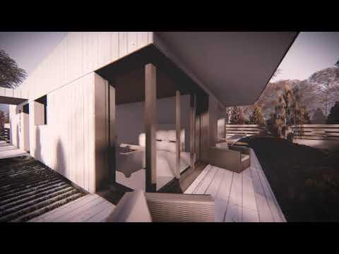 Z498 Уютный современный одноэтажный дом с гаражом
