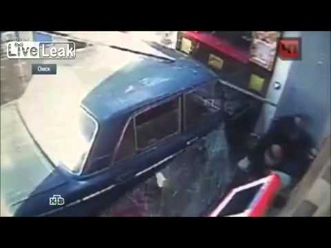 Guess what brand of car crashed into the supermarket ? Crazy Coder