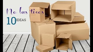 10 IDEAS con cajas/Best Out Waste
