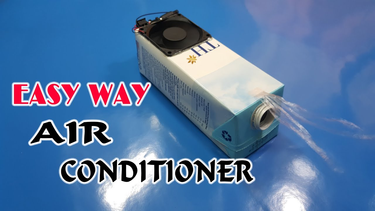 how to make a simple air conditioner at home