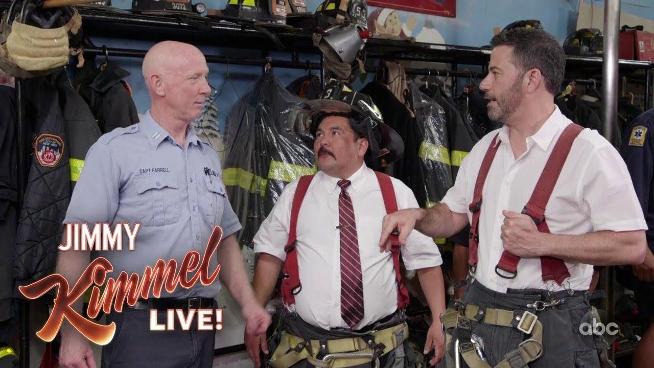 Jimmy Kimmel & Guillermo Visit a New York Firehouse