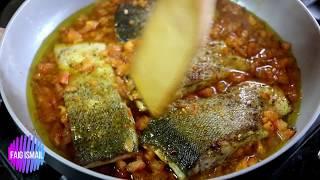 Жареная Форель в помидорном соусе Азербайджанская кухня