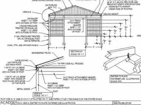 Pdf Barns Pole Barn Plans Youtube