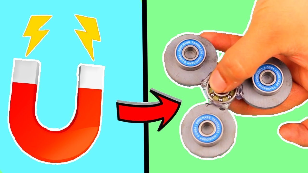 DIY MAGNETIC FIDGET SPINNER! VERY EASY TO MAKE! ACTUALLY ...
