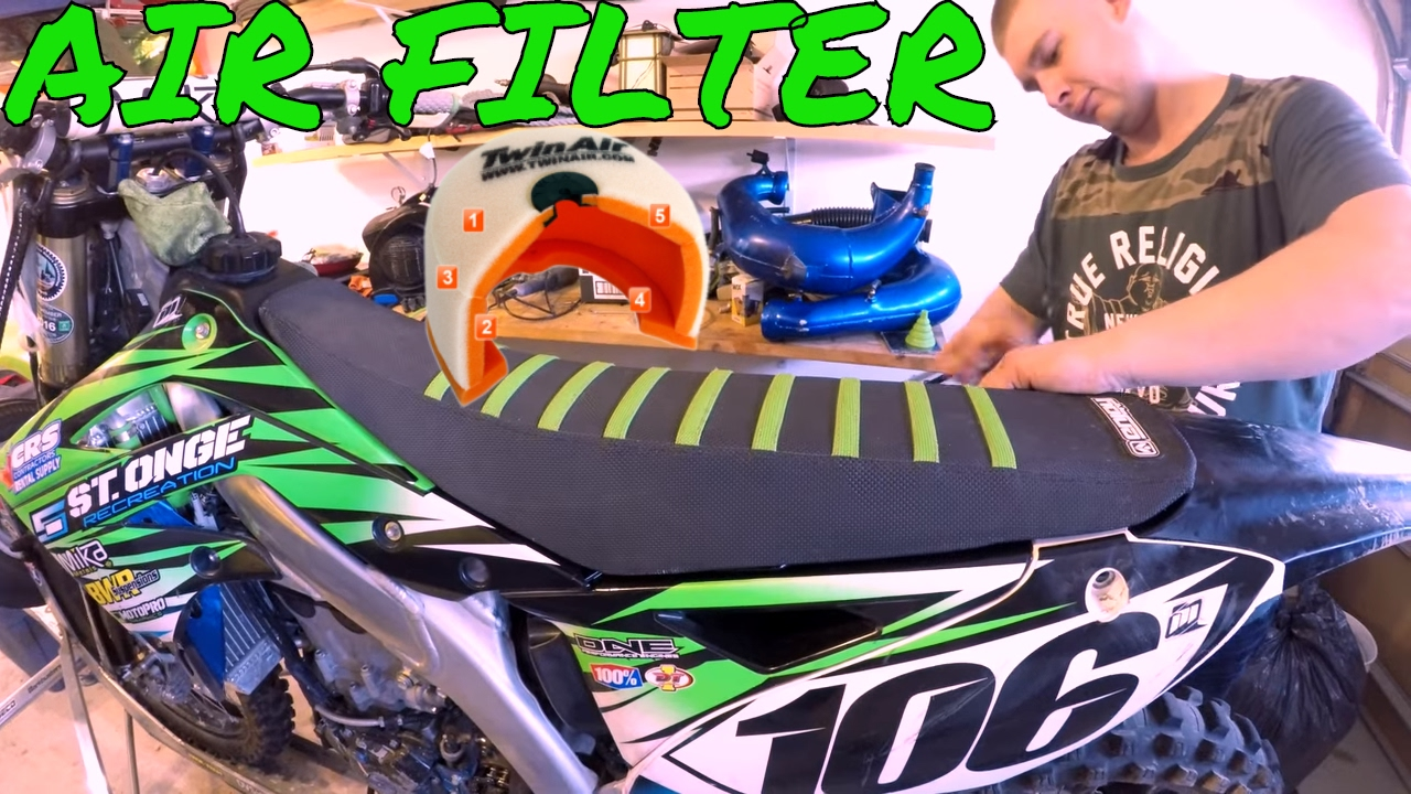 How To Clean Oil Or Change Dirt Bike Air Filter Kx450f Enduro Fuel Skills