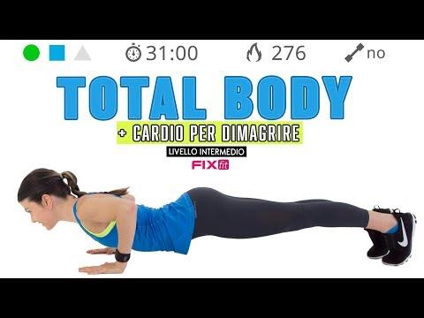 Esercizi Senza Salti! Allenamento Total Body   Cardio Per Dimagrire E Tonificare