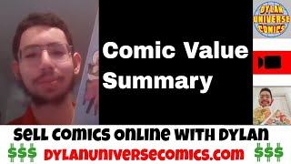 How to Sell your Comic Collection: Comic Value Summary | Sell Comic Books Online with Dylan Universe