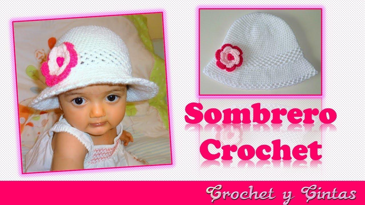 Sombrero crochet verano para niñas con flor 3D 👒 👧 Parte 2 - YouTube