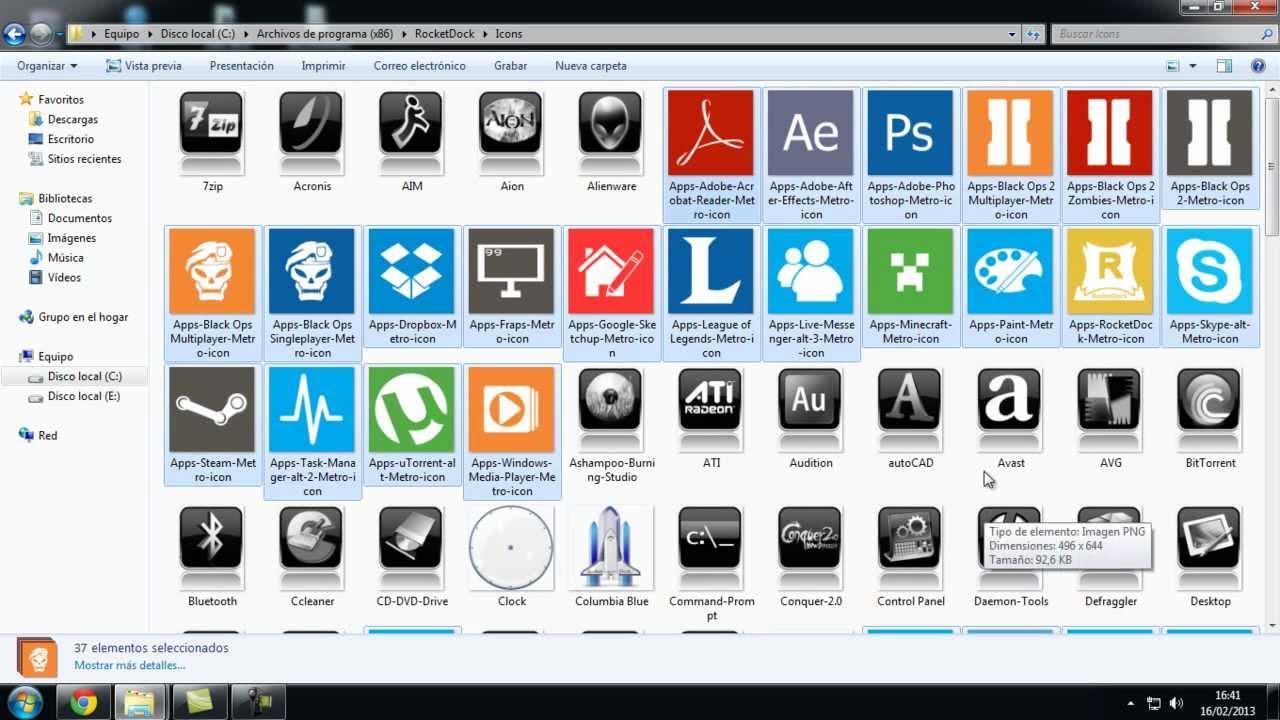 Tutorial como descargar e instalar iconos de windows 8 - Iconos para escritorio windows ...