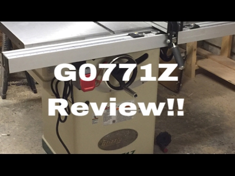 Grizzly G0771z Table Saw Review Youtube