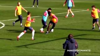 Lionel Messi Amazing Double Nutmeg Goal in Training (3.1.2017) HD