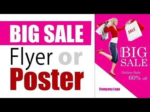 How to create Fashion Big Sales Flyer or Poster