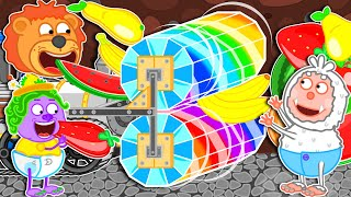 Lion Family ⚙️ Journey to the Center of the Earth #41. Rainbow Machine | Cartoon for Kids