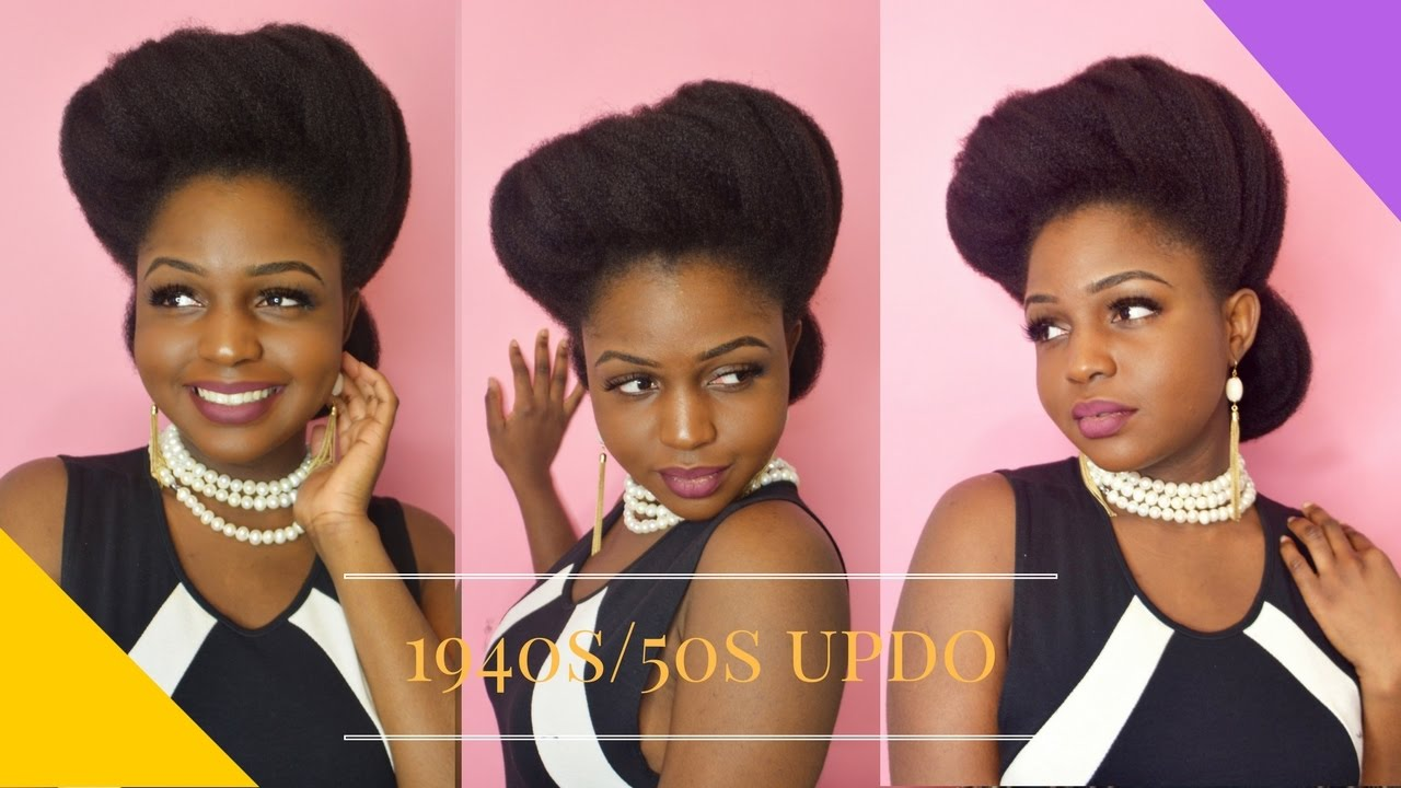 1940s / 1950s INSPIRED UPDO ON NATURAL HAIR