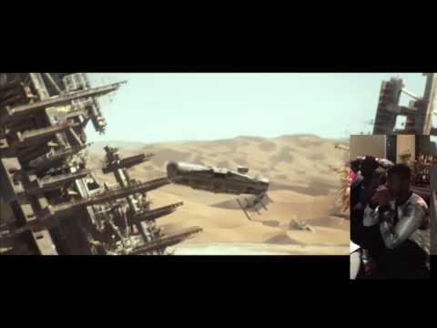 John Boyega Full Split Screen Reaction to Star Wars Trailer