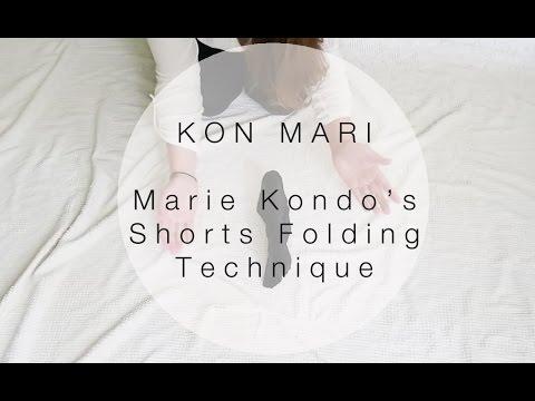Kon mari method how to fold shorts in the marie kondo way sarah