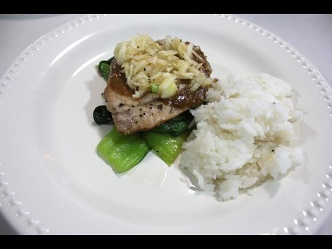 Blue Apron Pork Chops & Miso Butter | Cooking & Review