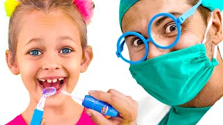 Going To The Dentist Song   Maya Pretend Play Sing-Along to Kids Songs and Video for Children