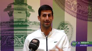 Wimbledon 2019. | Raspoloženi Novak Đoković Posle Plasmana u Treće Kolo | SPORT KLUB Tenis
