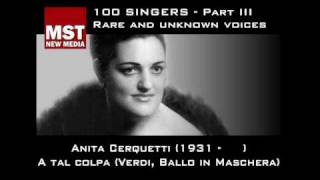 Part III: Rare and unknown voices - ANITA CERQUETTI