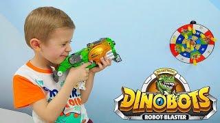 ДиноБот Трансформер - Стегозавр который трансформируется в Бластер. Игрушки DINOBOTS
