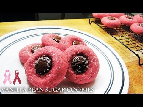 Vanilla Bean Chocolate Button Sugar Cookies - Recipe